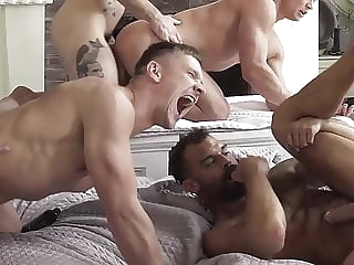 Quarantine Gangbang bareback (gay) fisting (gay) group sex (gay)