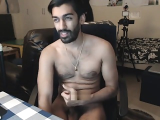 Hot hairy Indian cumshow cumshot big cock amateur
