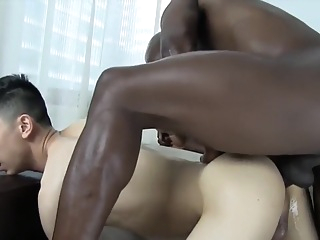Barebacking Asian Boy asian bareback interracial
