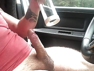Vacuum suck Gun massager at the same time amateur blowjob massage