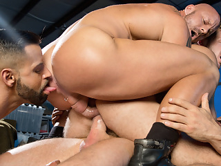 Mitch Vaughn & Brian Bonds & David Benjamin & Rocco Steele in Guard Patrol Video gay bear gay cumshot gay gangbang