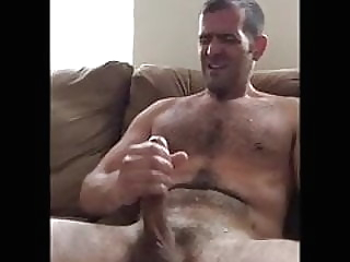 hot hairy daddy with a big cock jerks and cums on his chest 0:31 2020-12-20